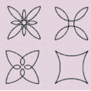 These stencils are designed for continuous sewing
