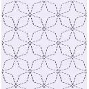 Sashiko stitches by Full Line Stencils