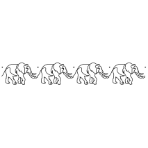 Elephants on the run #50005 Repeat