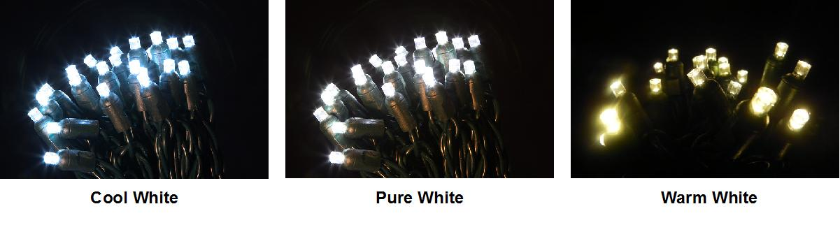 Warm White, Cold White and Pure White LED Comparisons