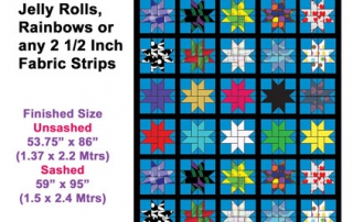 Jelly Roll aka Bali Pop and Rainbow Patterns- Buddies Star Quilt Buddies Designs