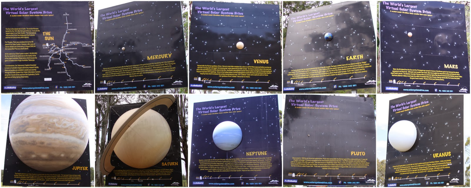Sliding Springs Solar System Drive Planets