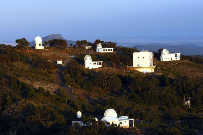 Telescopes at the Sliding Spring Observatory in Coonabarabran