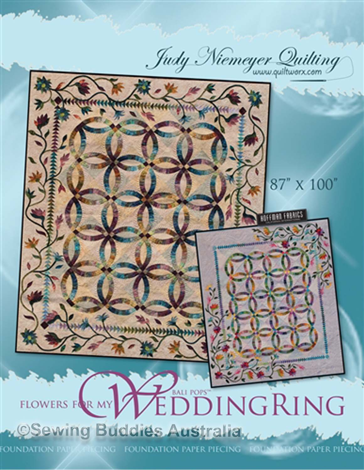 Flowers For My Wedding Ring Quilt Pattern By Judy Niemeyer
