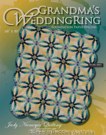 Grandma's Wedding Ring Quilt Pattern Cover By Judy Niemeyer