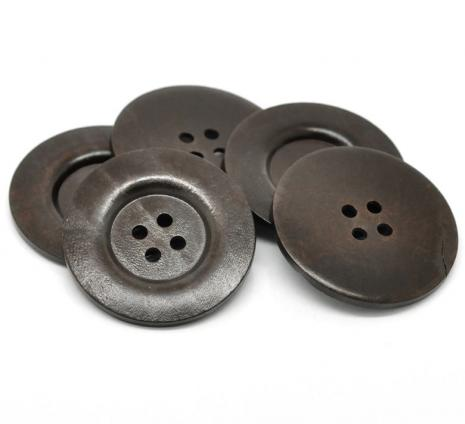 Dark Brown Painted 60 mm x 2 Buttons