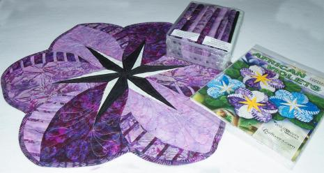 African Violets Placemat Kit  Judy Niemeyer