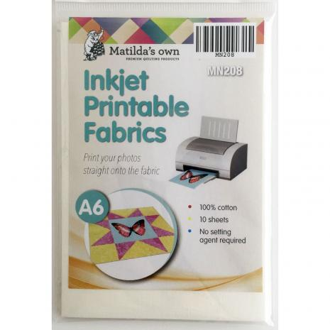 Printable Fabric (Inkjet) A6 x 10 Sheets
