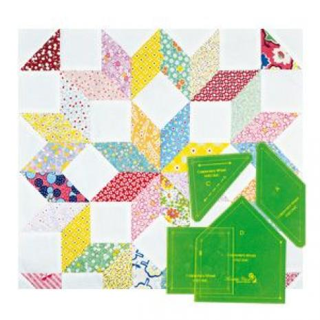 Carpenters Wheel Patchwork Template
