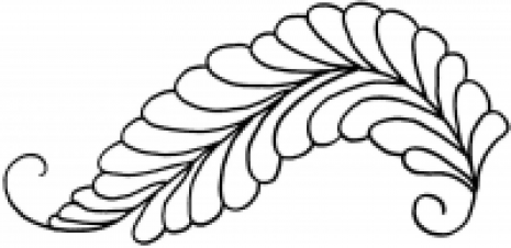 Georgian Feather #30338  by Full Line Stencils by Full Line Stencils