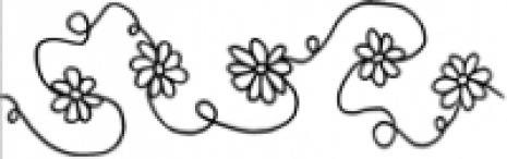 "Daisy Border 2 3/4"" width #30351 by Full Line Stencils by Full Line Stencils"