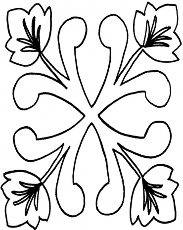 Oak Leaf Square #30344  by Full Line Stencils