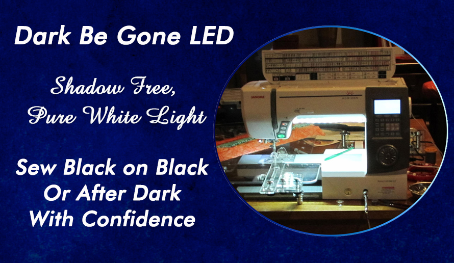 Dark be Gone  Led Sewing Machine Lights by Sew Brighter Australia