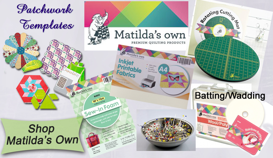 Sewing Buddies Australia stock a wide range of Matilda's Own products