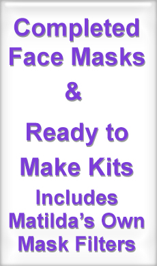Completed Masks and Kits Including Washable Filters