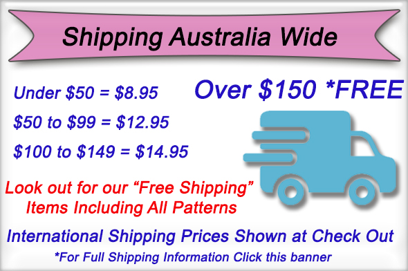 Shipping Costs made easy at Sewing Buddies Australia