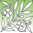 Spring Bloom Stencil by Full Line Stencils