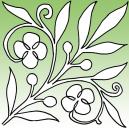 Spring Bloom Stencil by Full Line Stencils
