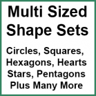 Multi Size Shape Sets Patchwork Templates - Sewing Buddies Australia
