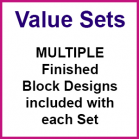 Value Sets - Multiple Quilt Block Designs