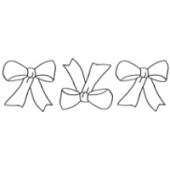 Pretty Bow Border #30361 by Full Line Stencils by Full Line Stencils