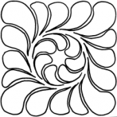 Feather Block #30460 by Full Line Stencils