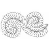Fancy Feather Border #30472 by Full Line Stencils