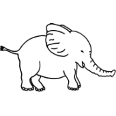 Baby Elephant #30479 by Full Line Stencils