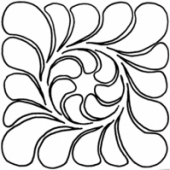 """Feather Block, 5"""" #30675 by Full Line Stencils"""