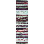 Burgundy and Aqua Rainbow aka Jelly Roll Sewing Buddies Australia