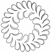 "7"" Feather Wreath by Full Line Stencils"