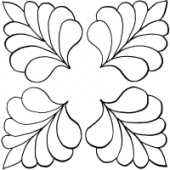 Four Corner Feather #30328 by Full Line Stencils