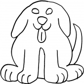 Front Facing Dog, large #30400 by Full Line Stencils