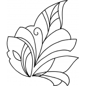 Modern Leaf #70001 by Full Line Stencils