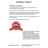 How to Install your Dark Be Gone LED Sewing Machine Light Page 4