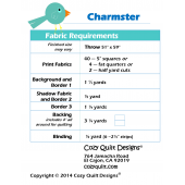 Fabric Requirements Charmster by Cozy Quilt Designs