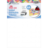 Iron On Printable Fabric (Inkjet) A4 x 3 Sheets Sewing Buddies Australia