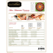 Back Cover Mini Mariner's Compass Classic Pack - by Quiltsmart
