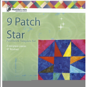 9 Patch Star 9 Inch Patchwork Template - Matilda's Own - Sewing Buddies Australia
