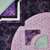 Drunkards Path Pre-Cut Quilt Kit - Moody Purples Sewing Buddies Australia
