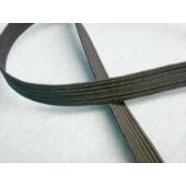 10 metres x 5mm Braided Superior Quality Elastic White or Black - Sewing Buddies Australia