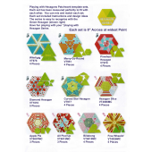 All Pied Up Patchwork Template Playing with Hexagons Series Sewing Buddies Australia