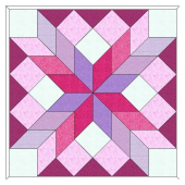 """Carpenters Wheel 18"""" Patchwork Template Meredithe Clark Signature Collection"""