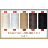 Essentials 5 Colour Set 1 Rasant Thread 1000M Sewing Buddies Australia