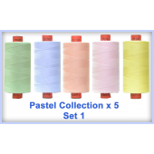 Pastels 5 Colour Set 1 Rasant Thread 1000M Sewing Buddies Australia