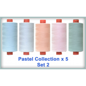 Pastels 5 Colour Set 2 Rasant Thread 1000M Sewing Buddies Australia