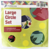 Circle Set Large Patchwork Templates Matilda's Own Sewing Buddies Australia
