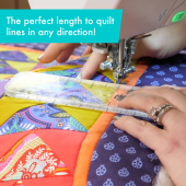 Slim Creative Grids Non-Slip Free Motion Quilting Tool / Ruler SEE VIDEO