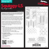 Squiggy Low Shank Creative Grids Non-Slip Machine Quilting Tool / Ruler