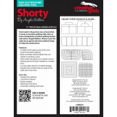 Shorty Creative Grids Non-Slip Free Motion Quilting Tool / Ruler VIDEO